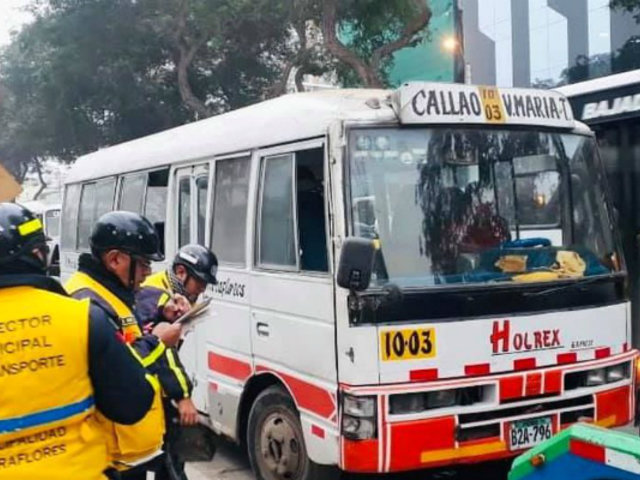 Miraflores aplicará fiscalización electrónica contra transporte informal