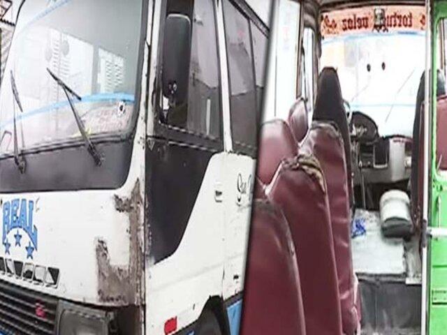 Municipalidad de Miraflores y ATU envían al depósito a seis cústers informales
