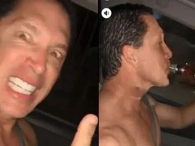 ¿Qué infracciones cometió el candidato de Fuerza Popular captado con botella de licor mientras manejaba?