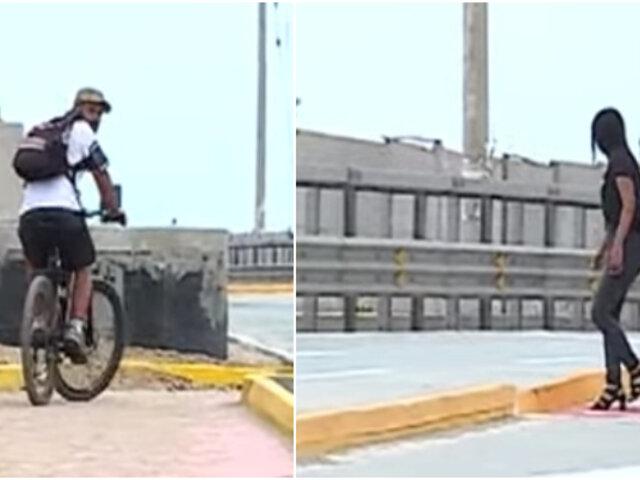 Ciclovías ponen en riesgo la vida de peatones y deportistas