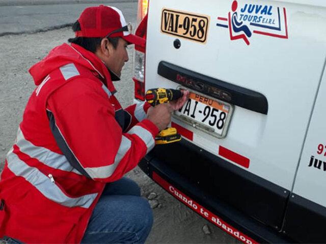 Panamericana Sur: Sutran detecta vehículos con placas de plástico