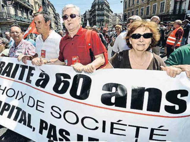 """Francia: Ejecutivo retira """"provisionalmente"""" medida sobre edad de jubilación"""
