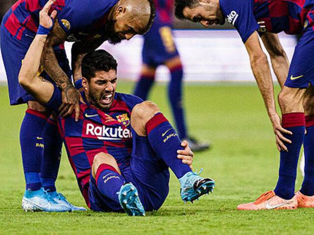 Barcelona confirma que Luis Suárez será operado de la rodilla derecha