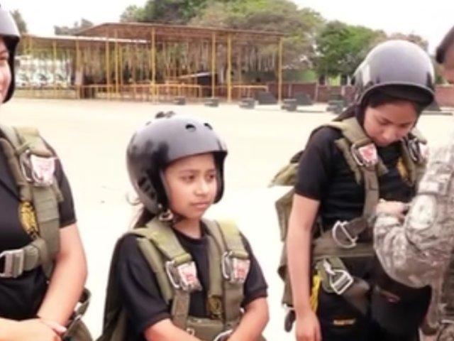 """Ejército del Perú: inició curso de """"mini paracaidistas"""" para niños"""