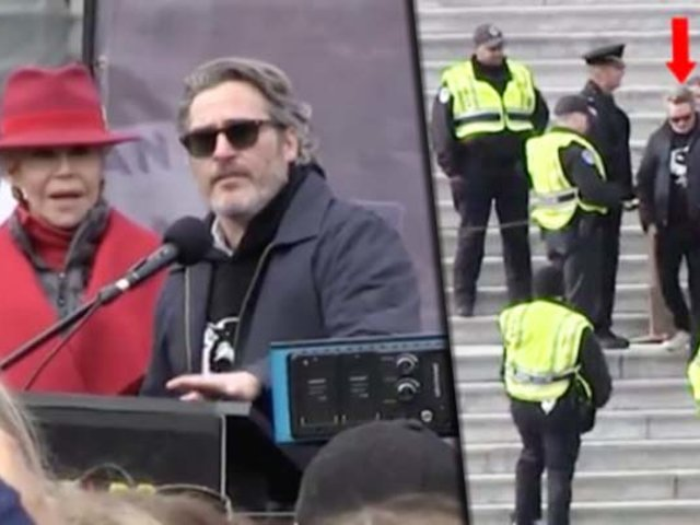 Joaquin Phoenix es arrestado en una protesta realizada en Washington