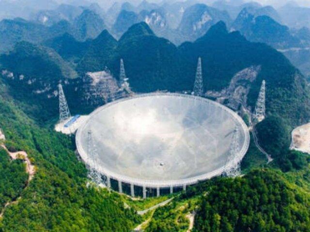 China: inician las operaciones del radiotelescopio más grande del mundo