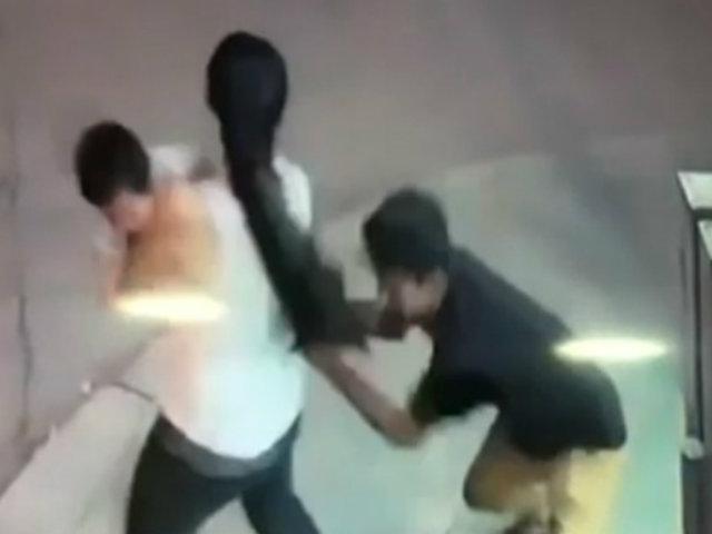 Jaén: ladrón casi provoca que bebé caiga al suelo