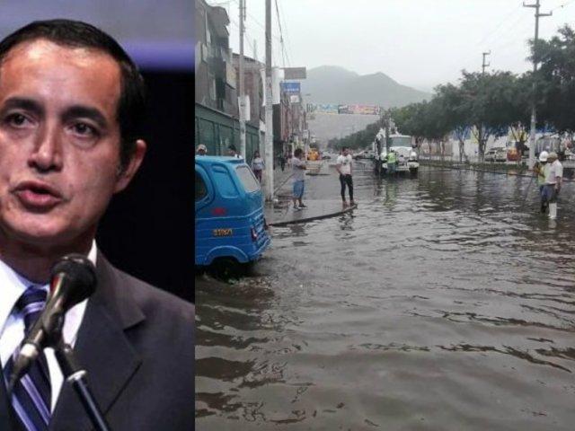 """Alcalde de SJL tras aniegos: """"Hay que declarar en emergencia el sistema de alcantarillado"""""""