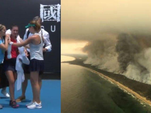 """Tenista sufre ataque respiratorio por humo de incendios en Australia: """"Tenía miedo de colapsar"""""""