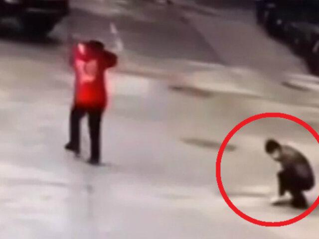 China: menor desencadenó explosión tras arrojar pirotécnico a alcantarilla