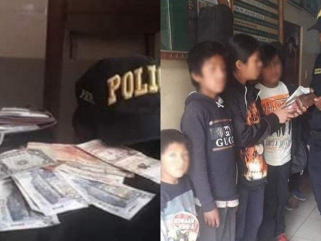 Cusco: niños entregan a la Policía billetera extraviada con S/1200