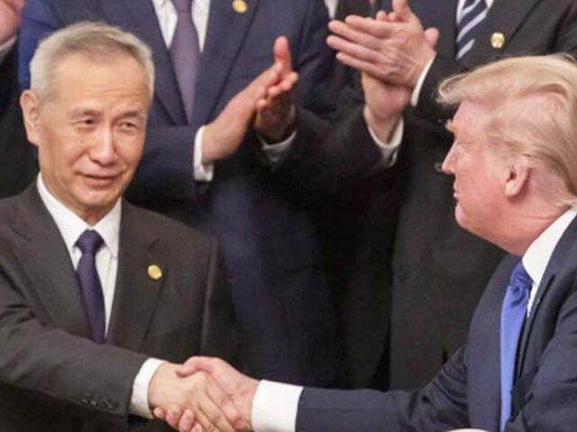 Estados Unidos y China sellan primera fase de acuerdo para el fin de guerra comercial