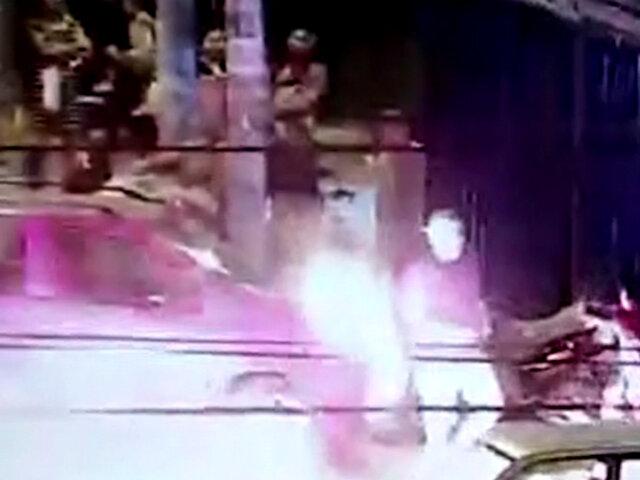La Victoria: sujeto intentó quemar viva a su pareja