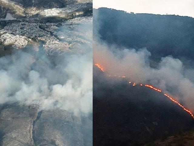 Quito: alrededor de 400 bomberos luchan para apagar voraz incendio forestal