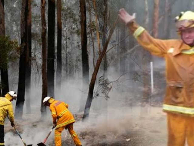 Australia: lluvia ayuda a combatir los incendios forestales