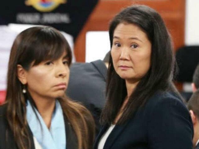 Juez Víctor Zúñiga desestimó dos pedidos de la defensa de Keiko Fujimori