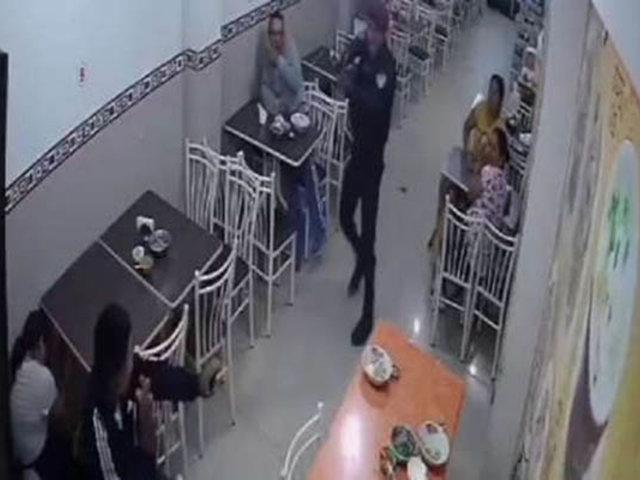 VES: presunto delincuente fue abatido dentro de restaurante