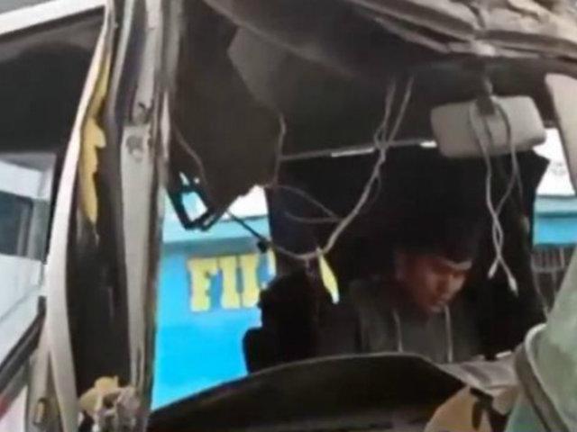 Ate: choque entre cúster del 'chosicano' y camión deja varios heridos