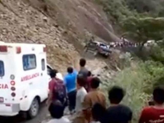 Ayacucho: pasajeros en camioneta estuvieron a punto de caer a un abismo
