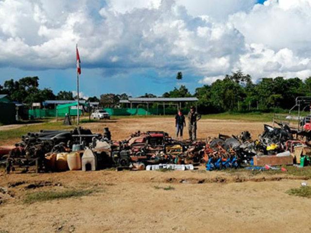 Madre de Dios: en amplio operativo capturan banda dedicada a la minería ilegal