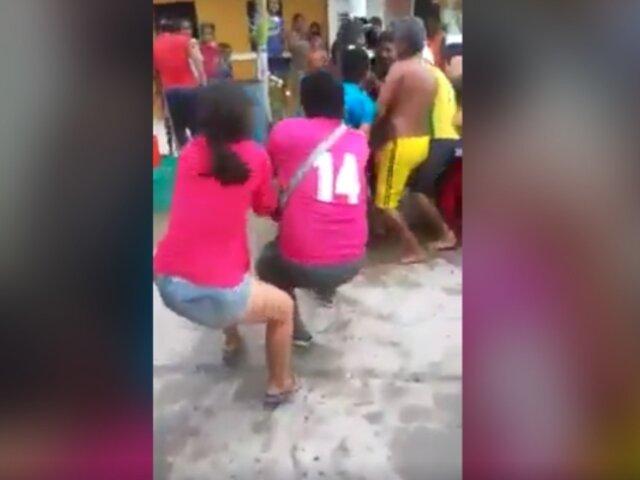 Tumbes: vecinos se disputan manguera de cisterna tras escasez de agua