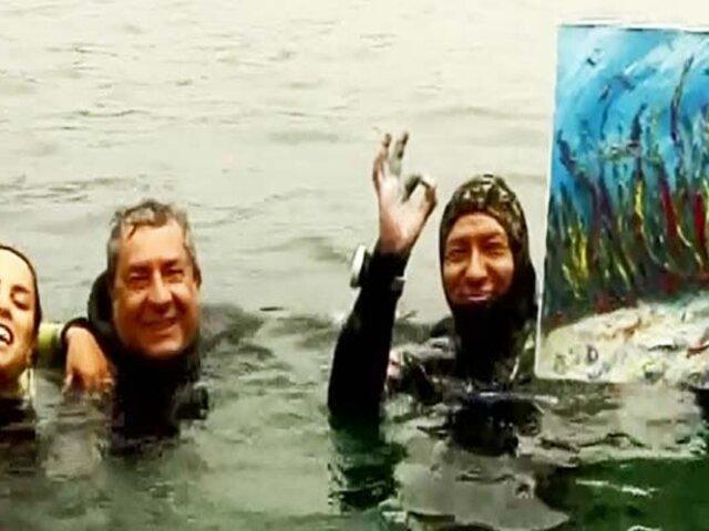 Pascual Mimbela: el primer peruano en pintar cuadros bajo el mar