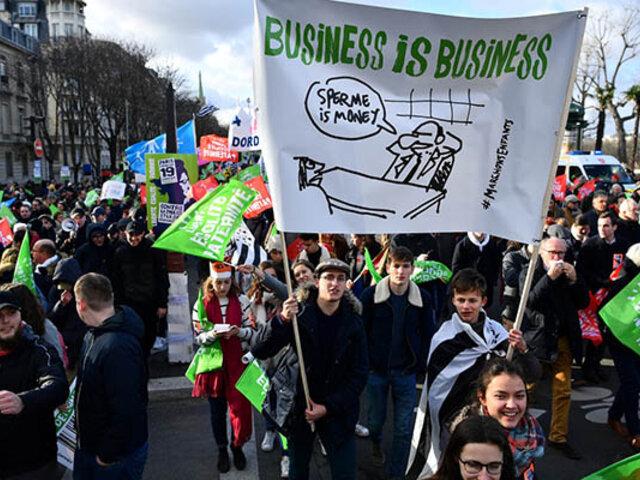 Francia: miles de personas marchan contra ley de reproducción asistida