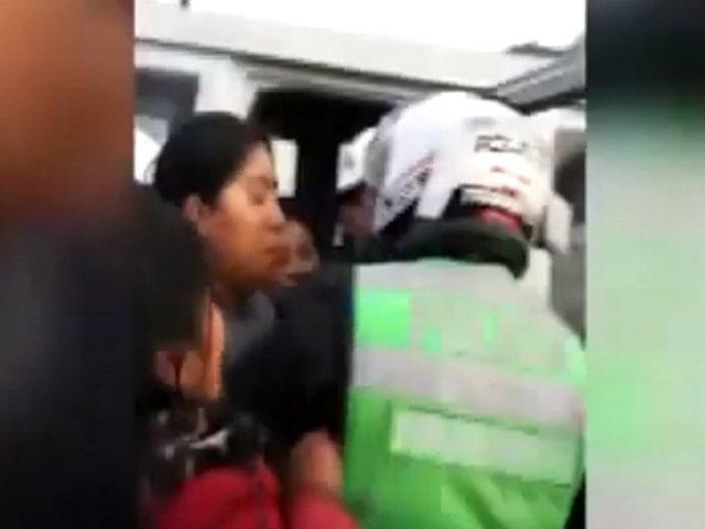 Arequipa: transportistas informales agreden a policías de tránsito