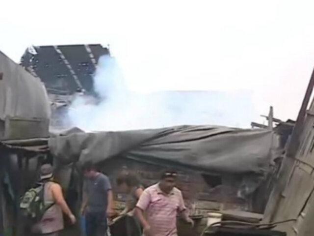 Villa El Salvador: se registró amago de incendio en criadero de chanchos