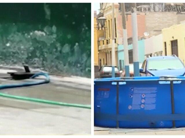 Callao: vecinos roban agua de medidores para llenar piscinas portátiles