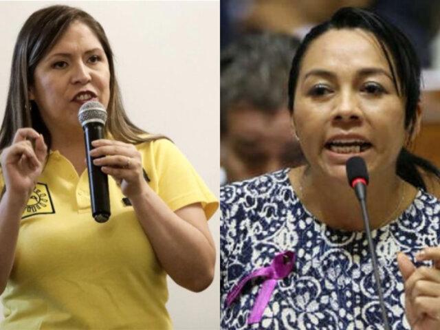 Yeni Vilcatoma asegura que Nelly Cuadros ''usurpó'' su lugar en debate electoral