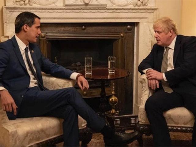 Juan Guaidó se reunió con el primer ministro del Reino Unido