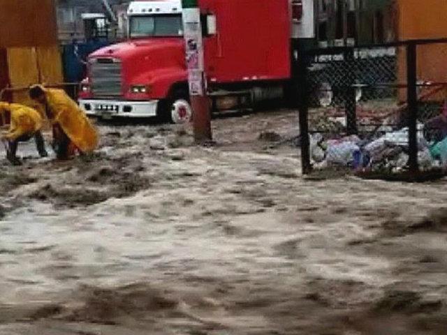 Lluvias torrenciales generan huaicos y bloqueos en Arequipa