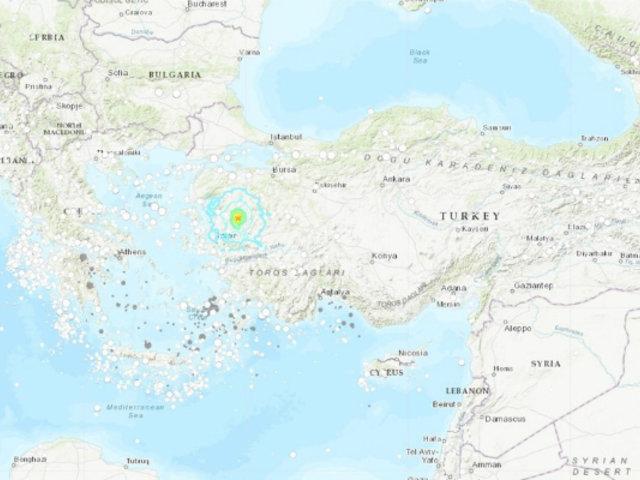 Sismo de magnitud 5,6 sacudió este miércoles Turquía