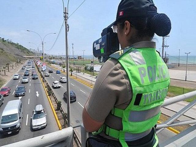 Costa Verde: más de 500 multas se registran en enero por excesos de velocidad