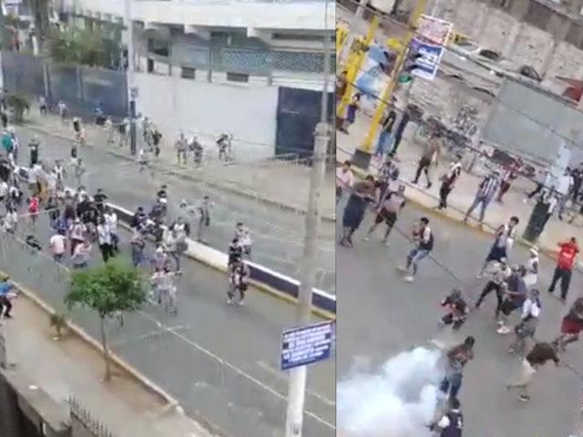 Noche Blanquiazul: barristas protagonizaron disturbios a las afueras del estadio 'Matute'