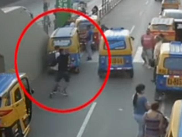 San Juan de Miraflores: falsos mototaxistas asaltan a transeúntes en paradero