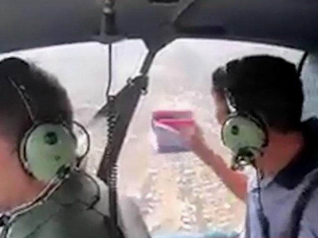 Elecciones 2020: Lanzan volantes de esposa de alcalde de SJL desde helicóptero