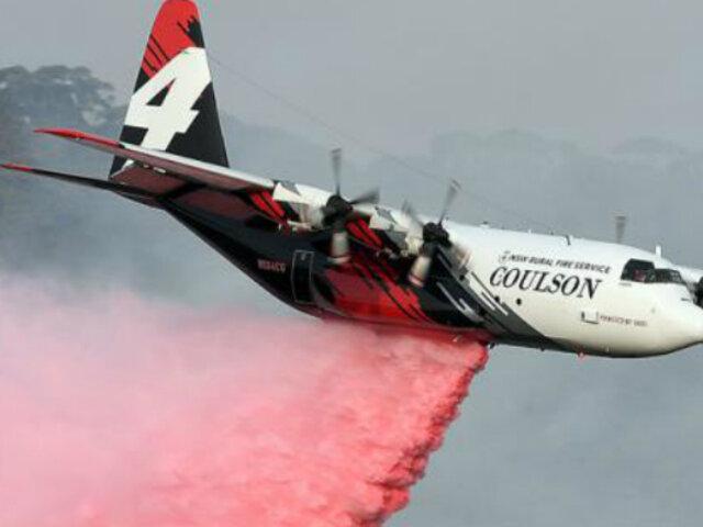 Australia: bomberos estadounidenses mueren tras estrellarse avión
