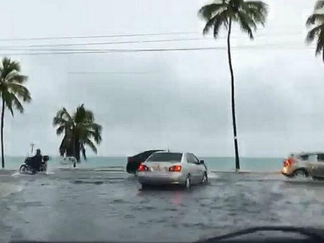 Inundaciones y cortes de energía dejan torrenciales lluvias al noreste de Brasil
