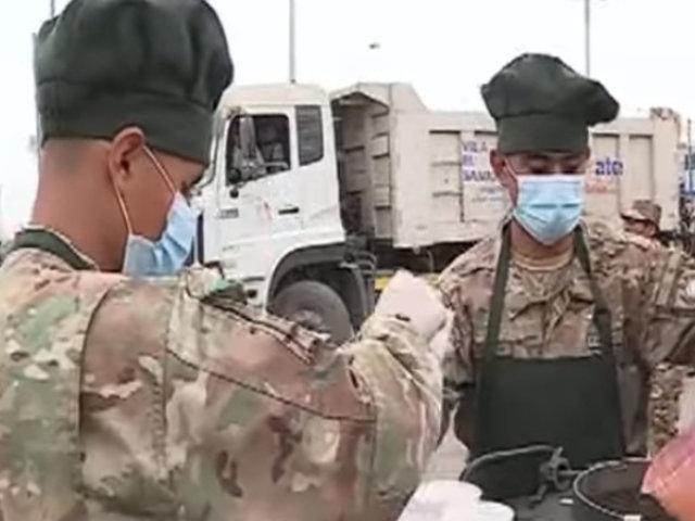 VES: agentes del Ejército llevaron desayuno para los damnificados