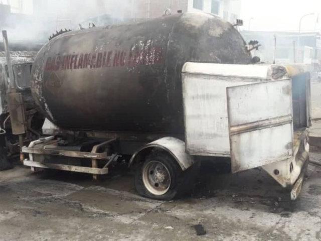 Camión cisterna que explotó en Villa El Salvador fue adaptado para transportar gas