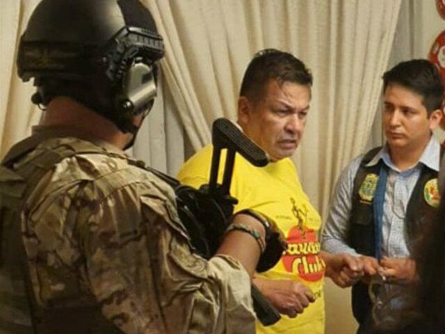 Detienen a Juan Sotomayor por pertenecer a presunta organización criminal