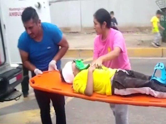 Chosica: profesor invade carril y atropella a mujer junto con sus tres menores hijos