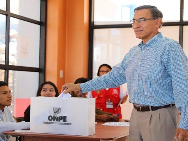 Martín Vizcarra: presidente emitió su voto desde Moquegua