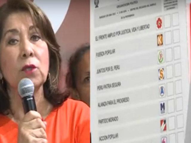 Elecciones 2020: Martha Chávez denuncia alteración en voto electrónico
