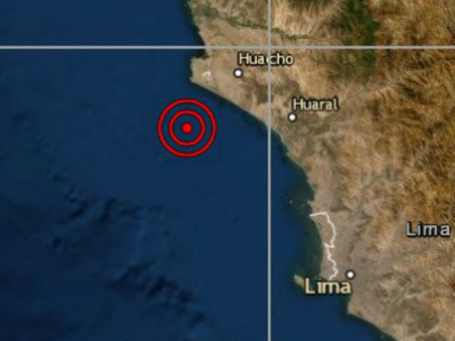 Sismo de regular intensidad sacudió Huacho esta tarde