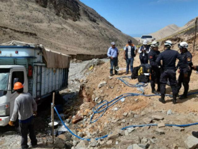 Arequipa: se reanudan labores de rescate de mineros atrapados en socavón