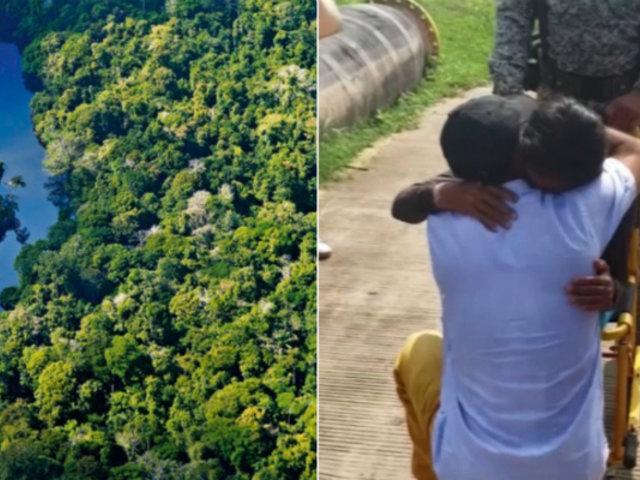 Loreto: rescatan a mujer e hijos que sobrevivieron 34 días en la selva