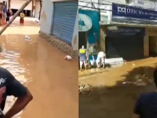 Brasil: delincuentes saquean negocios en medio de inundaciones y deslizamientos